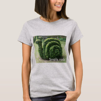 Snails rock! Topiary garden snail tee shirt.