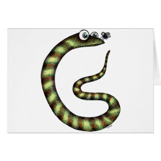 Snake and Fly Card