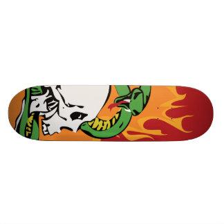 Snake and Skull Graphic Skate Deck