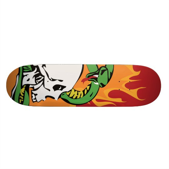 Snake and Skull Graphic Skate Deck