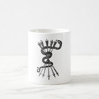 Snake & Arrows Coffee Mug