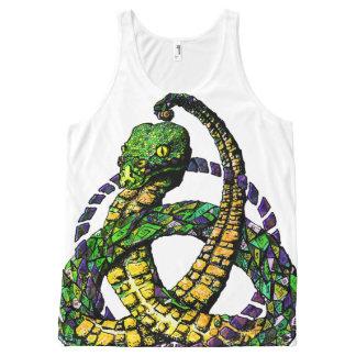 Snake Celtic Knot Color Full Print Tank top