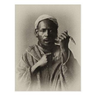 Snake charmer in Tangier, Morocco, 1913 Postcard