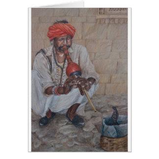 Snake Charmer, Jaipuir Greeting Card