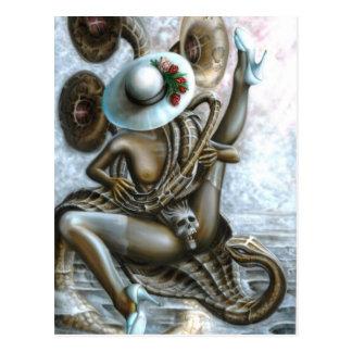 Snake charmer postcard
