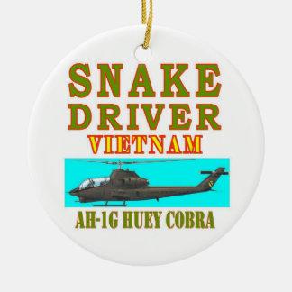 snAKE DRIVER VIETNAM Round Ceramic Ornament