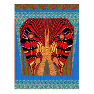 Snake Exotic Digital Fantasy Art Postcard