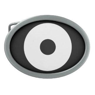 Snake eye oval belt buckles