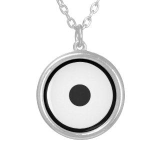 Snake eye silver plated necklace