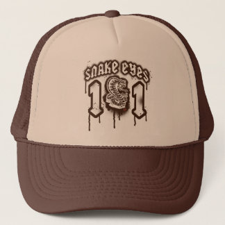 Snake Eyes Retro Grunge Graphic Trucker Hat