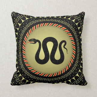 Snake figure throw pillow
