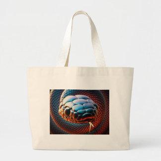 Snake head large tote bag