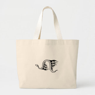 Snake in Flames Large Tote Bag