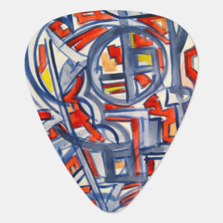Snake In The Henhouse-Abstract Art Hand Painted Guitar Pick