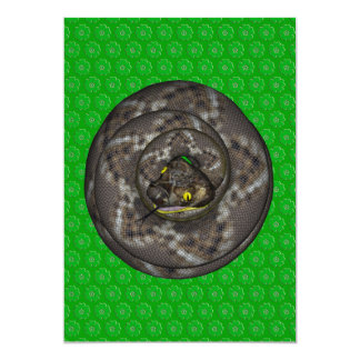 "Snake 5"" X 7"" Invitation Card"