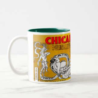 """""""Snake Lady Brings Forth The Serpent"""" Two-Tone Coffee Mug"""