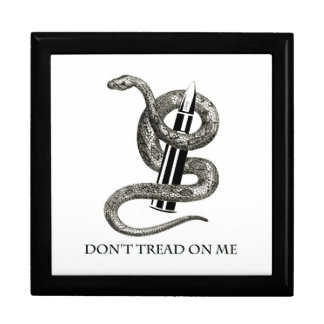 "Snake Liberty Bullet ""Don't Tread On Me"" Trinket Box"