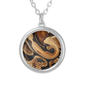 snake lovers Ball Python Silver Plated Necklace