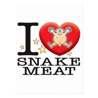 Snake Meat Love Man Postcard