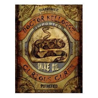 Snake Oil Postcard