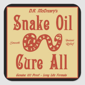 """Snake Oil"" Sticker"