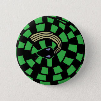 Snake - Optical Illusion (green) 2 Inch Round Button