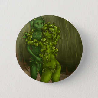 Snake Plant and Pothos Romance 2 Inch Round Button