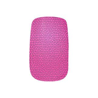 Snake Print Design Nail Art - Pink
