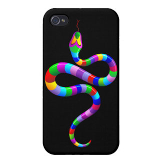 Snake Psychedelic Rainbow iPhone 4 Matte Case iPhone 4 Cover
