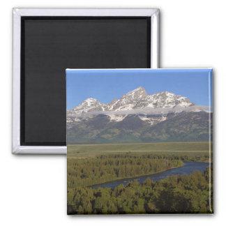 Snake River Grand Tetons Square Magnet