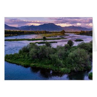 Snake River Sunset - Swan Valley - Idaho Card