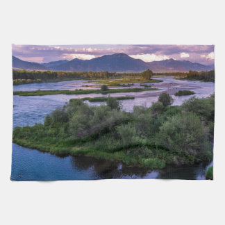 Snake River Sunset - Swan Valley - Idaho Hand Towel
