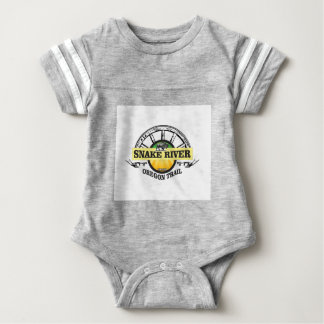 snake river yellow art baby bodysuit