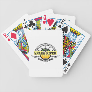 snake river yellow art bicycle playing cards