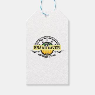 snake river yellow art gift tags