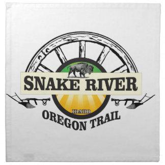 snake river yellow art napkin
