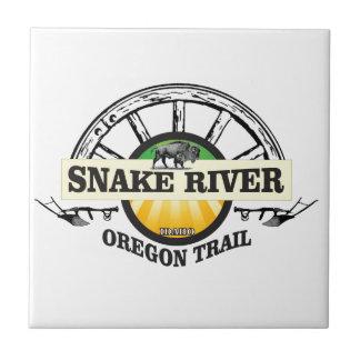 snake river yellow art tile
