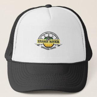 snake river yellow art trucker hat