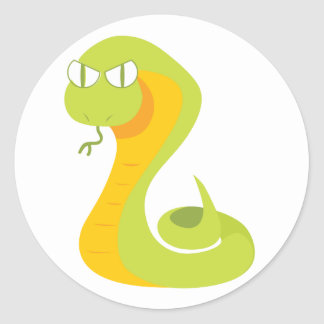 Snake Round Sticker
