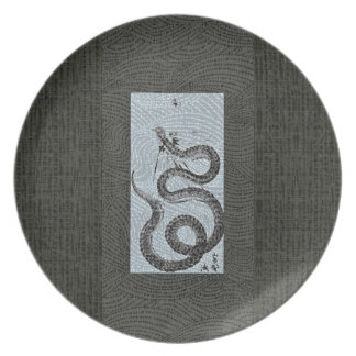 Snake/Serpent Sumi-e Plate