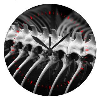 Snake Skeleton Archaeologist Bones Wall Clock