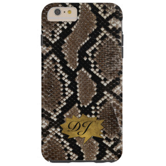 Snake Skin iPhone 6 Plus Custom Monogram Tough iPhone 6 Plus Case