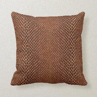 Snake Skin-Look  Background Throw Pillow