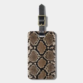 Snake Skin Luggage Tag