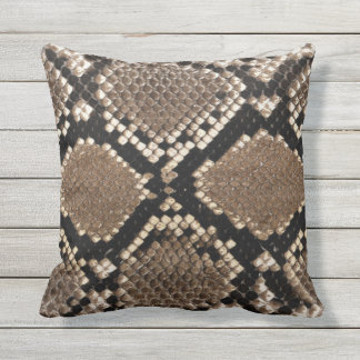 snake skin outdoor pillow