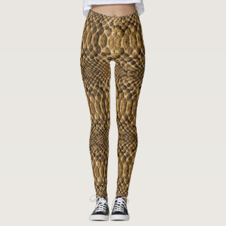 Snake Skin Pattern Yoga Exercise Running Leggings