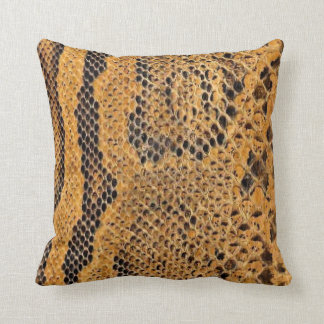 Snake Skin Print Accent Pillow