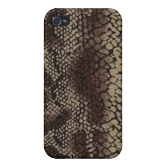 Snake Skin Print Brown Speck Case iPhone 4 iPhone 4 Cover
