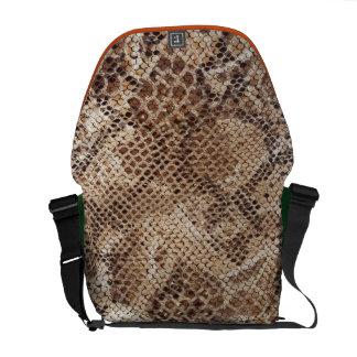 Snake Skin Print Commuter Bag