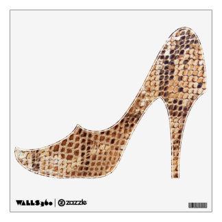 Snake Skin Print High Heel Shoe Wall Sticker